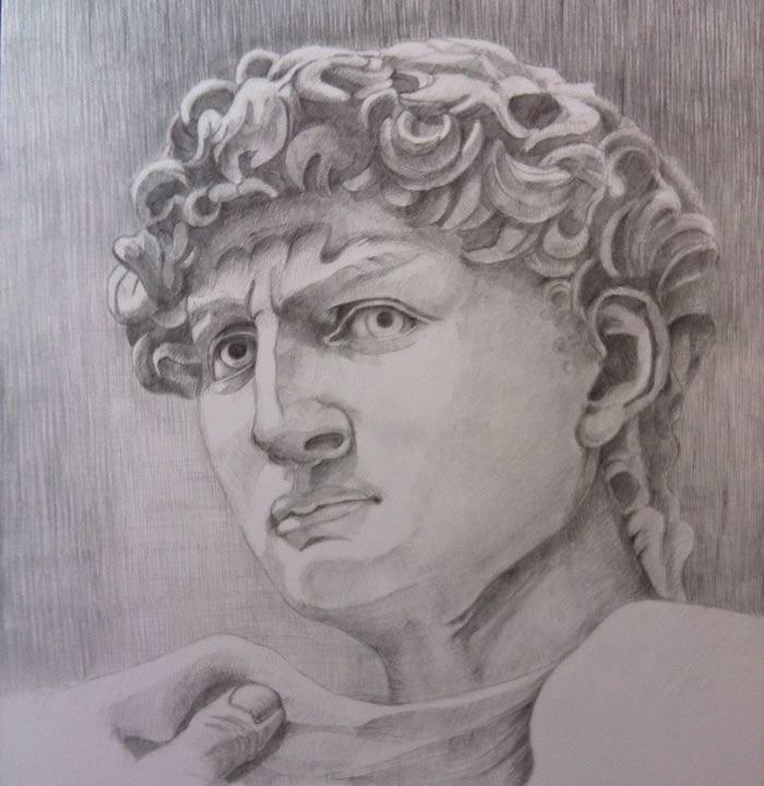 David's portrait by Malvina James
