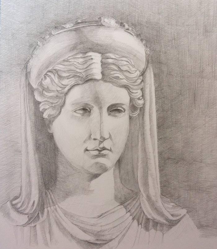 Drawing by Malvina James