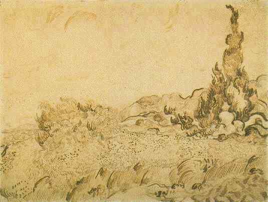 Vincent-Van-Gogh-Tree drawings-10