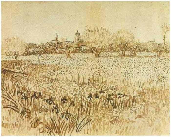 Vincent-Van-Gogh-Tree drawing