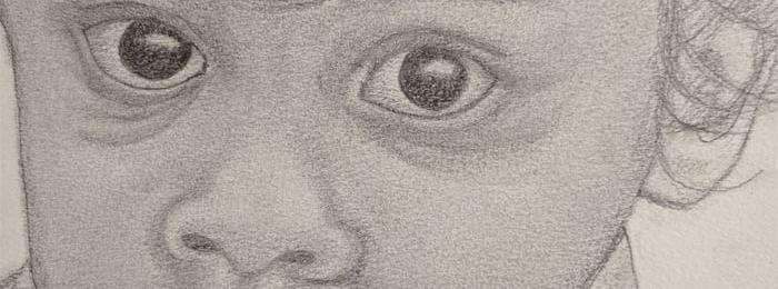 Portrait drawing by Pushpalatha