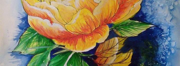 Flower artwork from Joana
