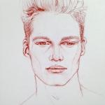 Portrait drawing by Cassiano Grandi