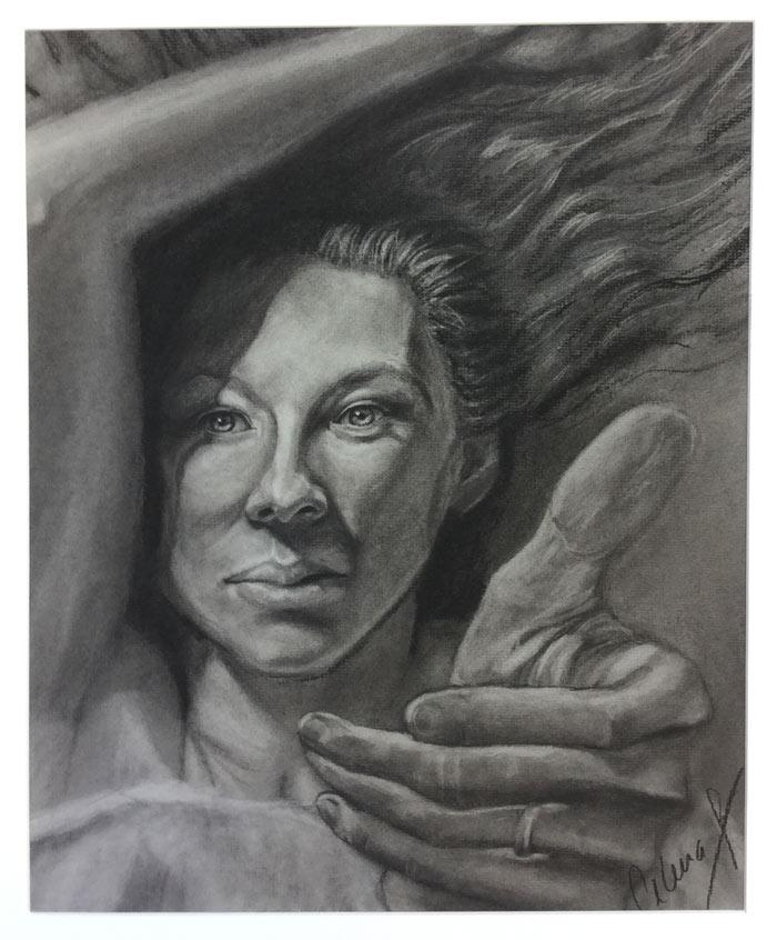 Portrait drawing by Celena Amburgey