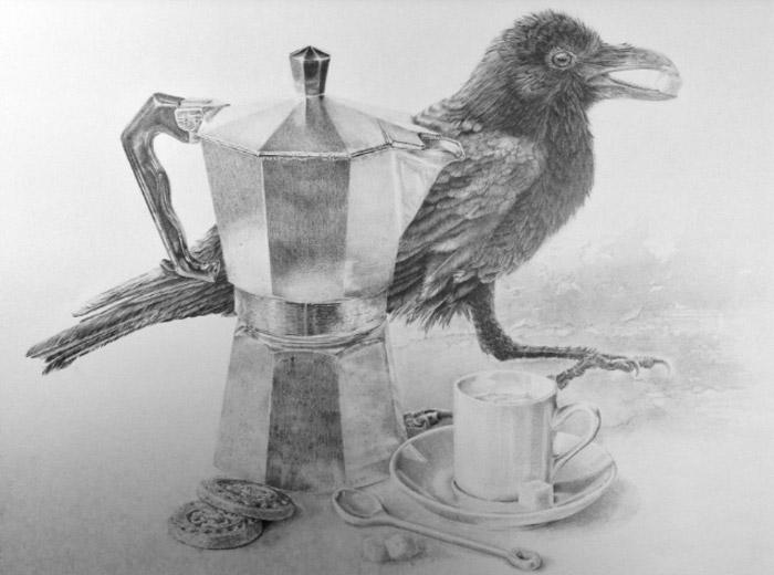 Drawing by Barbara Plezia