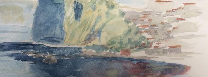 Watercolor landscape by Alberto
