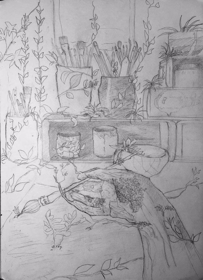 Drawing by Rawan