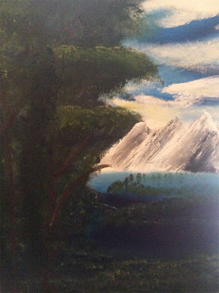 Painting by Aaron Cristofaro
