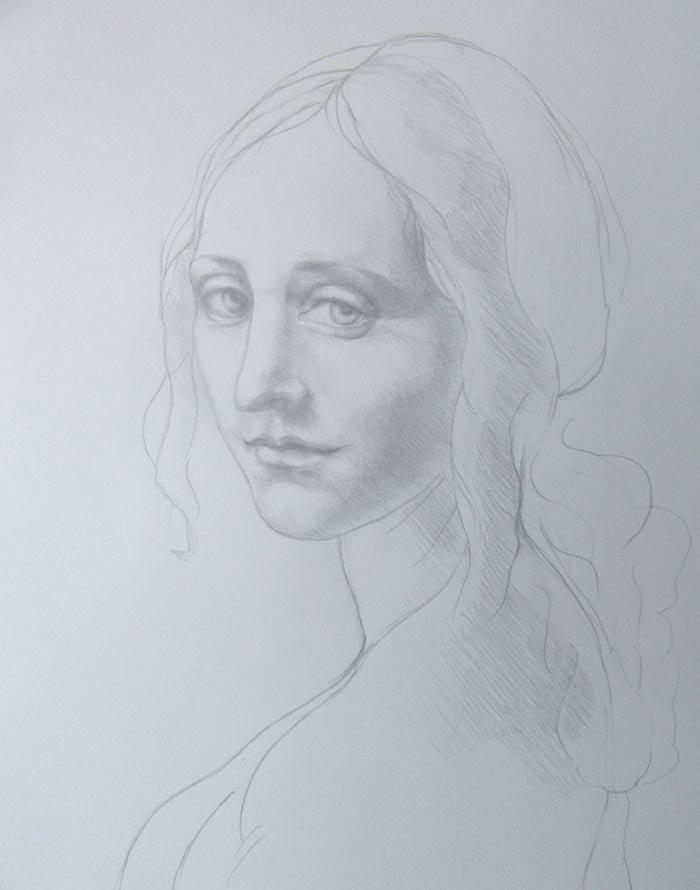 Drawing after Leonardo da Vinci