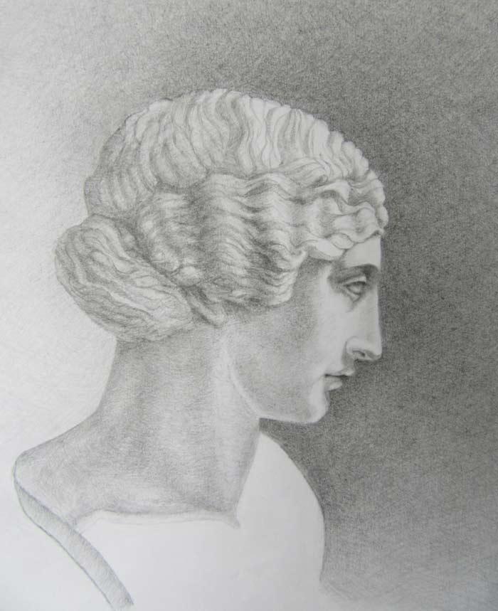 Portrait drawing by Zora