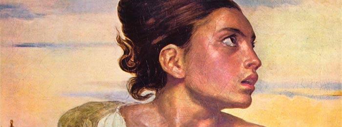 Delacroix, ever the Romantic