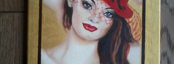 """Portrait of Melissa """"Mells Bells"""" in oils"""