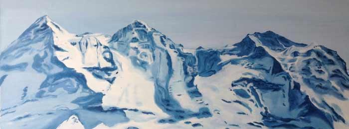 "Swiss mountains ""Eiger, Mönche and Jungfrau"""