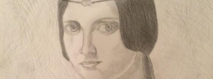 da Vinci's La Belle Ferronniere (Copy)