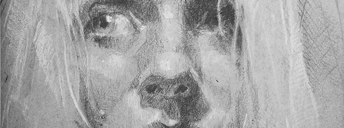 Portrait drawing by Krystal Brown