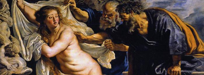 He said, she said. Susanna and the Elders