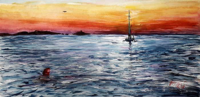 Watercolor by Jean-Pierre Missistrano