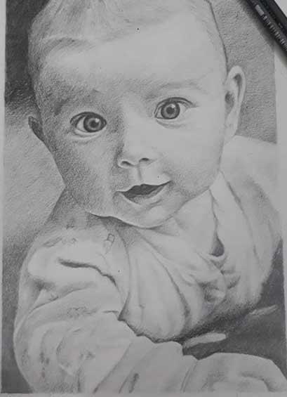 Drawing by Vismaya Khatokar