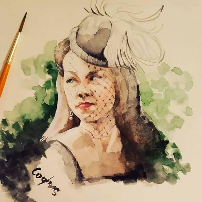 Watercolor by Sophia Miroslavova