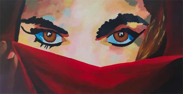 Painting by Petra Rakebrandt