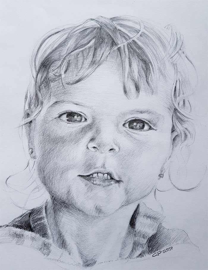 Portrait drawing by Gerhard Prinsloo