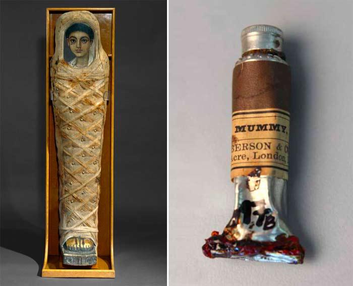 Painting with Mummies' Flesh…Literally