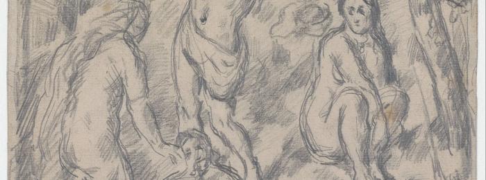 Paul Cézanne: Bathers in landscape